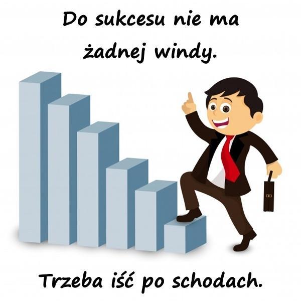Do sukcesu nie ma żadnej windy. Trzeba iść po schodach.