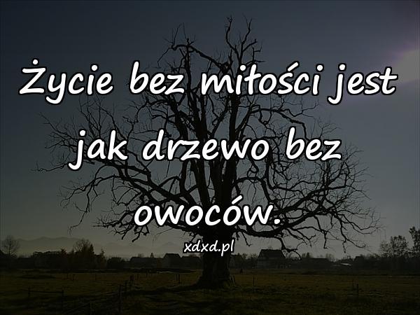 Życie bez miłości jest jak drzewo bez owoców.
