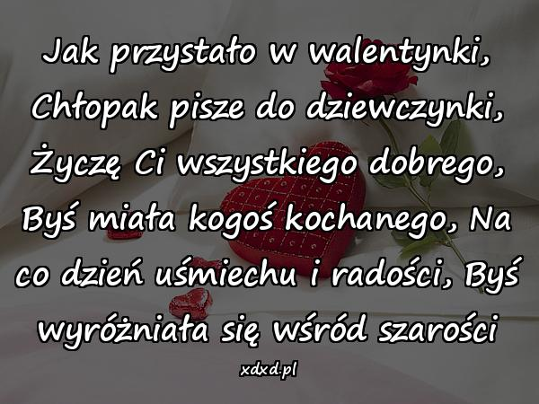 Wierszyki Na Dzień Zakochanych Wiersze Na Walentynki