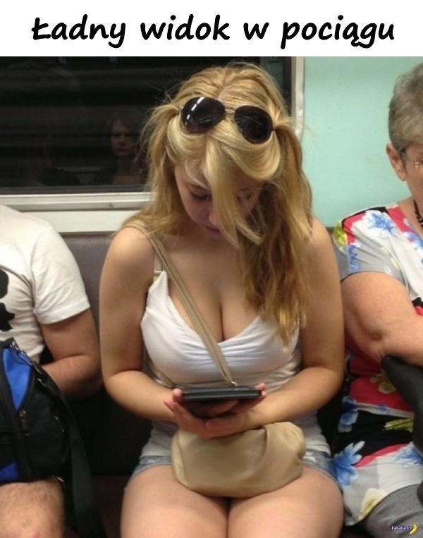Ładny widok w pociągu