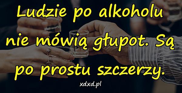 Ludzie po alkoholu nie mówią głupot. Są po prostu szczerzy.