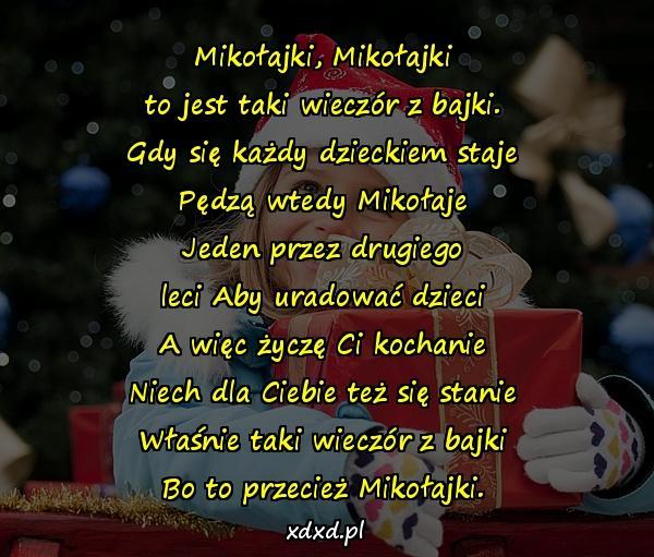 Z Okazji Mikołajki życzenia Na Mikołajki Wierszyk