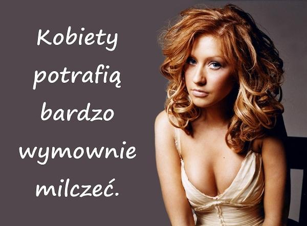 Kobiety potrafią bardzo wymownie milczeć.