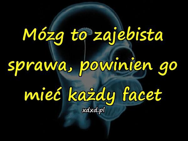 Mózg to zajebista sprawa, powinien go mieć każdy facet