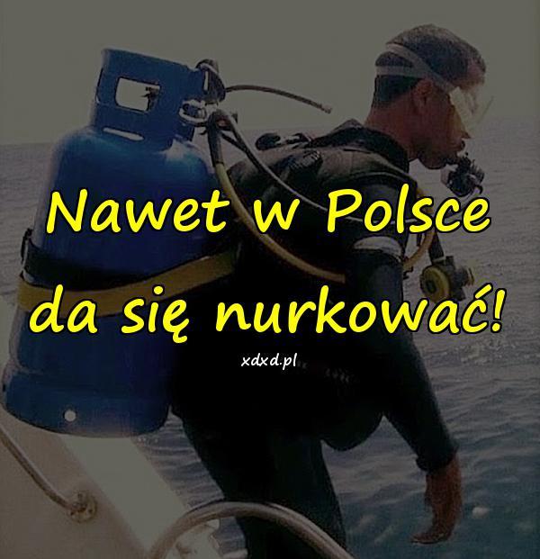 Nawet w Polsce da się nurkować!