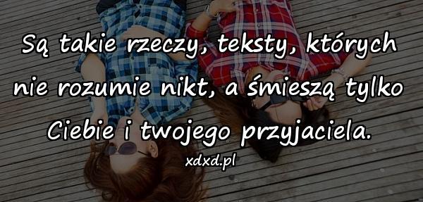 Są takie rzeczy, teksty, których nie rozumie nikt, a śmieszą tylko Ciebie i twojego przyjaciela.