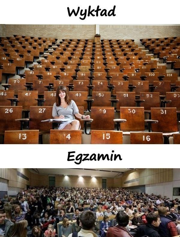 Wykład vs. egzamin