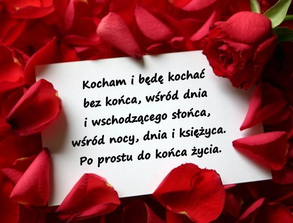 Dwie róże w wazonie są stołu ozdobą A list jest rozmową między mną a Tobą. Więc dla dalszej miłej naszej znajomości Wysyłam w Walentynki ten symbol miłości.