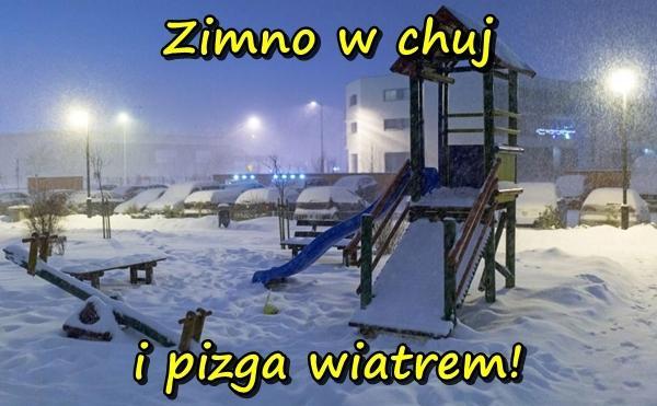 Zimno w chuj i pizga wiatrem!